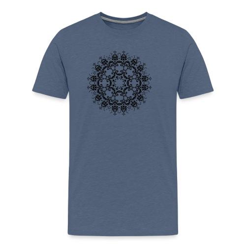 Floral Silhouette - Mannen Premium T-shirt