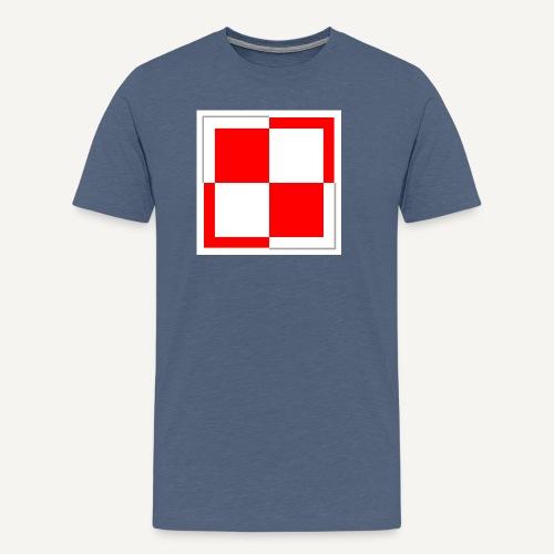 szachownica - Koszulka męska Premium