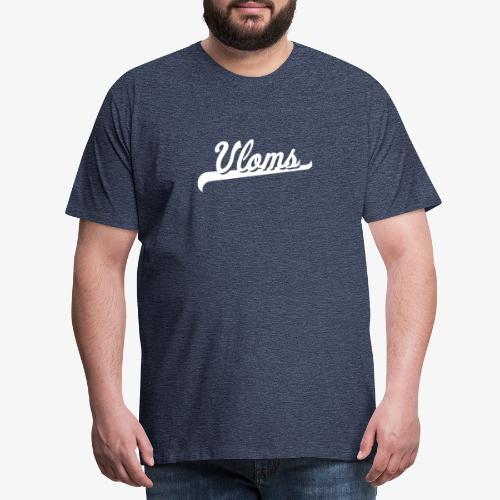 Logo wit Vloms - Mannen Premium T-shirt