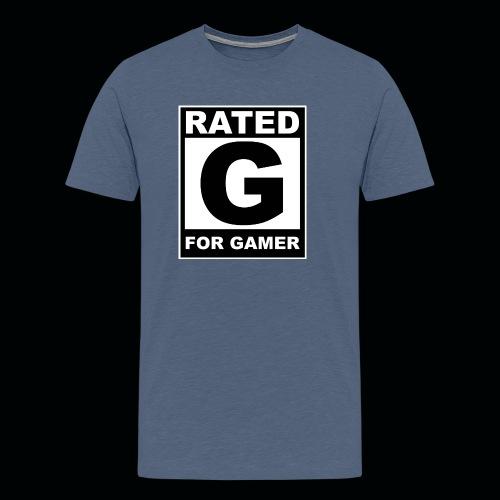 RATED G FOR GAMER - Men's Premium T-Shirt