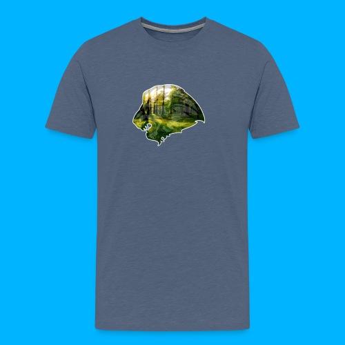 AMAZING WOOD LION - Männer Premium T-Shirt
