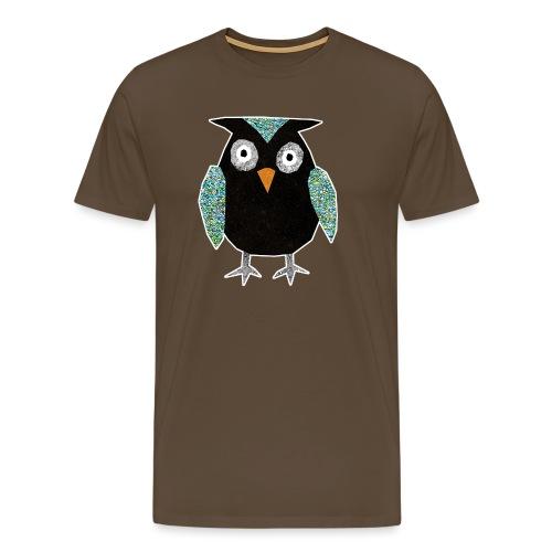 Collage mosaic owl - Men's Premium T-Shirt