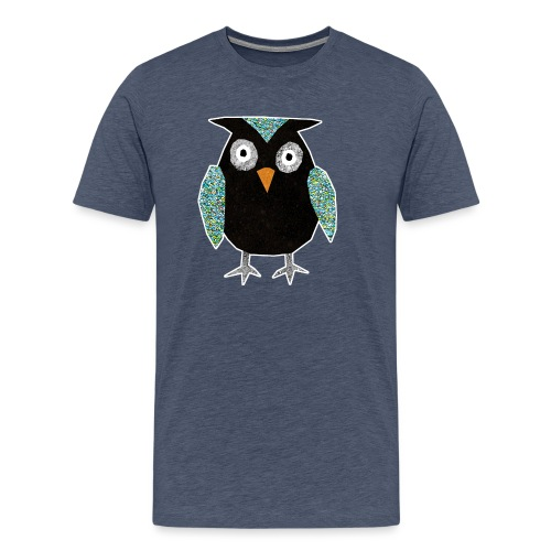 Collage mosaic owl - Men's Premium T-Shirt