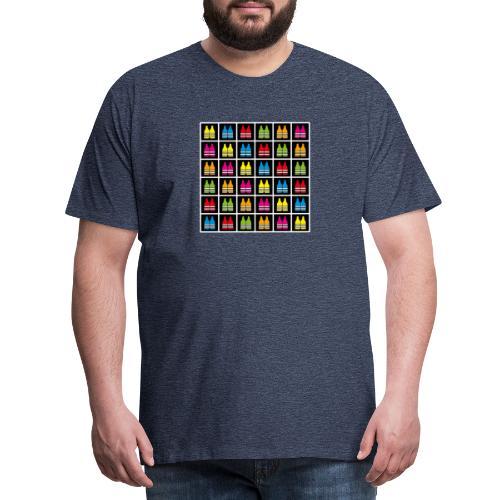 Motif Gilets - T-shirt Premium Homme
