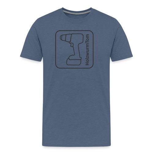 HolzwurmTom Logo grau hinten - Männer Premium T-Shirt