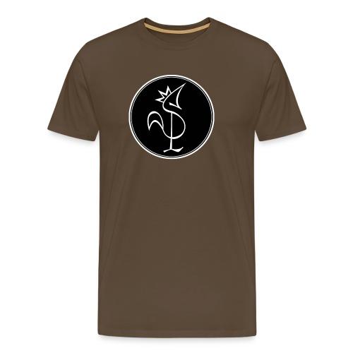 Pitou Blanc fond noir - T-shirt Premium Homme