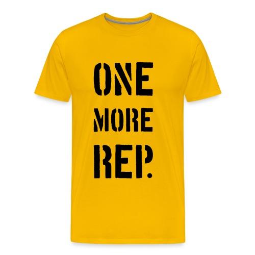 ONE MORE REP - Premium-T-shirt herr