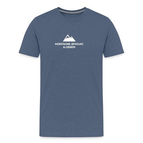 Montagne, bivouac et Génépi - T-shirt Premium Homme