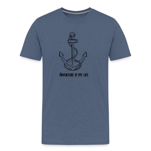 Ancre noir - T-shirt Premium Homme