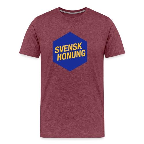 Svensk honung Hexagon Blå/Gul - Premium-T-shirt herr