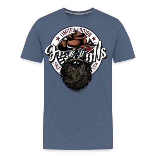 tete de mort crane hipster skull cowboy chapeau - T-shirt Premium Homme