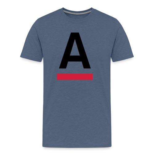 Alliansfritt Sverige A logo 2013 Färg - Premium-T-shirt herr