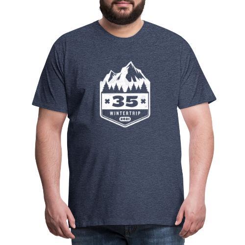 35 ✕ WINTERTRIP ✕ 2021 - Mannen Premium T-shirt