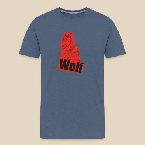 Red Wolf - T-shirt Premium Homme