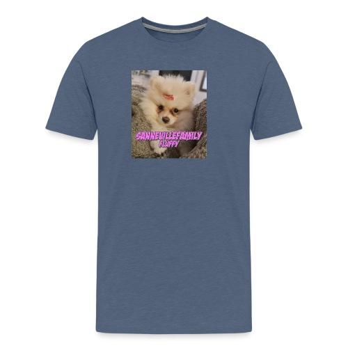 Print med den sødeste SanneVilleFamily Fluffy - Herre premium T-shirt