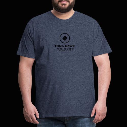 Toma Hawk - Pure Techno - Pure Life Black - Männer Premium T-Shirt