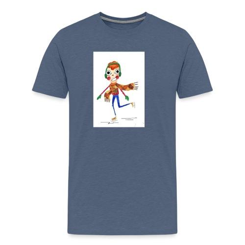 schaatser png - Mannen Premium T-shirt