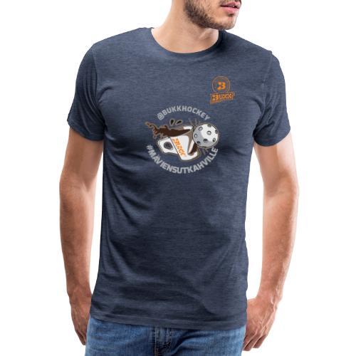 BUKK floorball maviensutkahville - Miesten premium t-paita