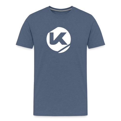 Logo K Blanc Vector - Men's Premium T-Shirt