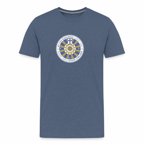 RT106 tummalletaustalle - Miesten premium t-paita