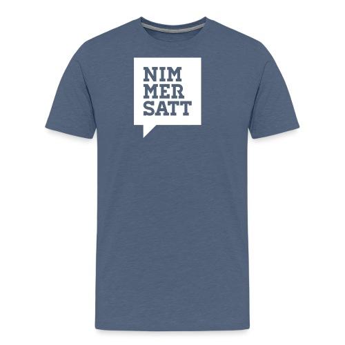 Nimmersatt Sprechblase - Männer Premium T-Shirt