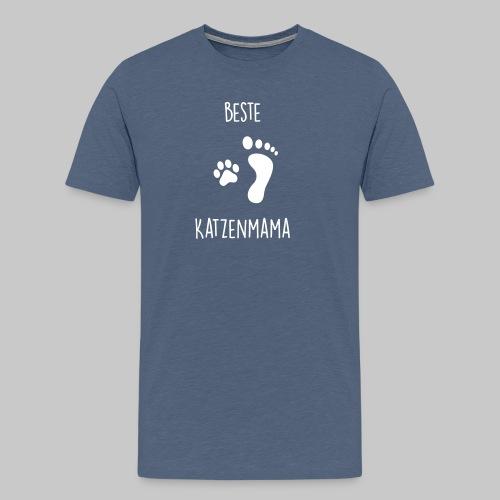 Beste Katzenmama - Männer Premium T-Shirt