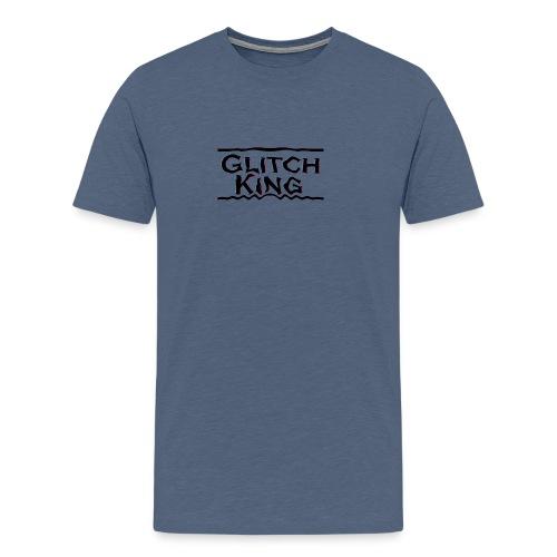 Glitch-King-Logo (extreme) - Männer Premium T-Shirt