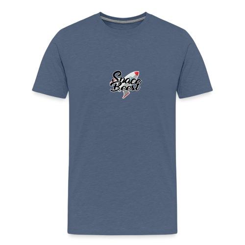 Logo, SpaceBeest - Mannen Premium T-shirt