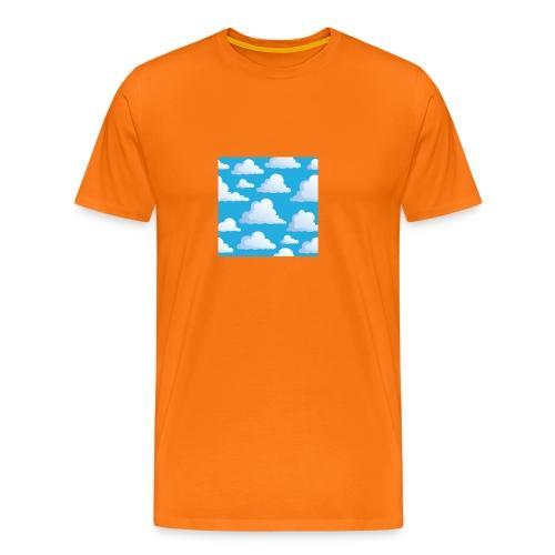 Cartoon_Clouds - Men's Premium T-Shirt