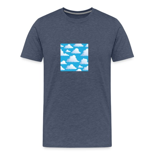 Cartoon_Clouds - Men's Premium T-Shirt