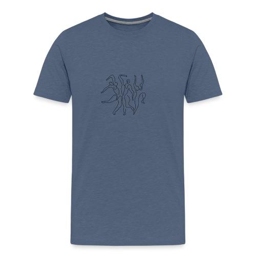 Picasso Tre dansare - Premium-T-shirt herr