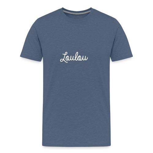 Logo-Wit - Mannen Premium T-shirt