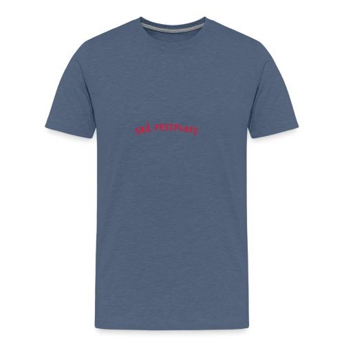 Skå Festplats Logotyp Röd - Premium-T-shirt herr