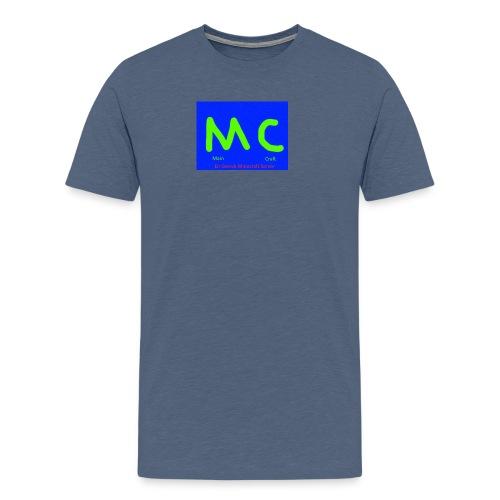 MainCraft Logga Blå - Premium-T-shirt herr