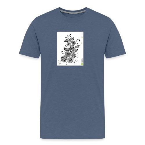 diseño de flores - Camiseta premium hombre