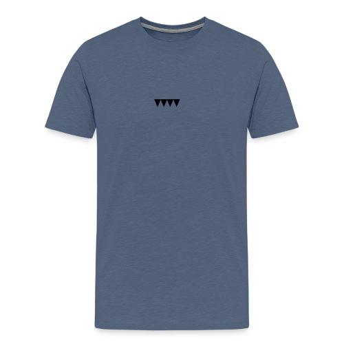 V i e r s c h w a r z e D r e i e c k e - Männer Premium T-Shirt