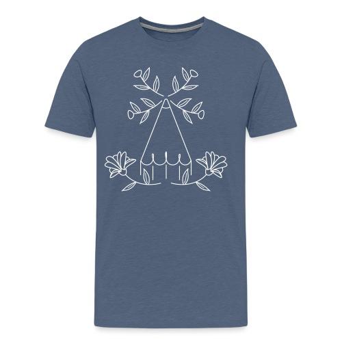 design traits fermés - T-shirt Premium Homme