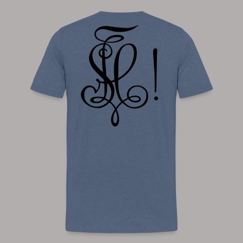 Zirkel, schwarz (hinten) - Männer Premium T-Shirt