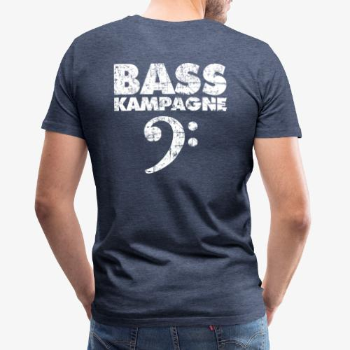 Basskampagne Bass Design Vintage Weiß - Männer Premium T-Shirt