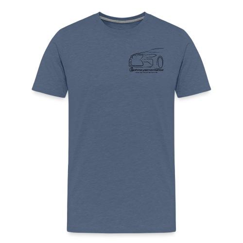 m2schräg Polo front shirt back png - Männer Premium T-Shirt