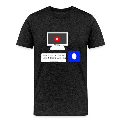 pc mit maus und tastertur by Fabio__HD - Männer Premium T-Shirt