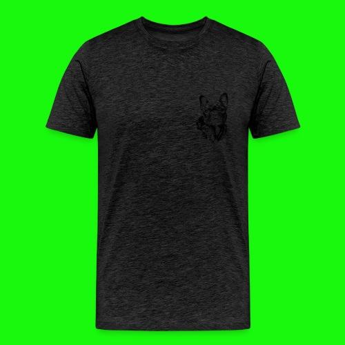 Small_Dog-_-_Bryst_- - Herre premium T-shirt