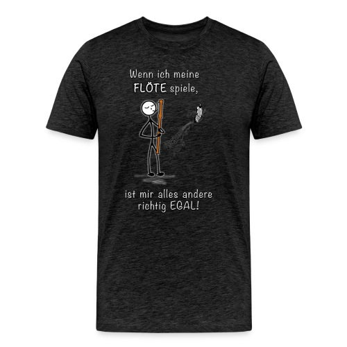Recorder Love f. dark colours - Men's Premium T-Shirt