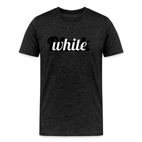 Zwart-wit typografie - Mannen Premium T-shirt