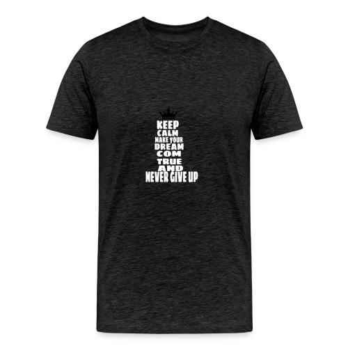 never_give_up - Mannen Premium T-shirt