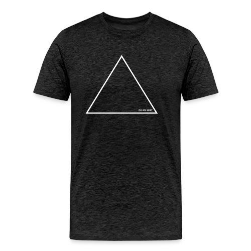 Triangle / Dreieck white / weiß - Männer Premium T-Shirt