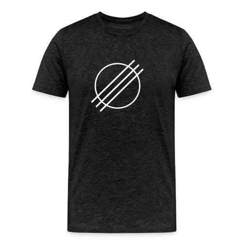 DJ Øyvind Offisiell Logo (hvit) - Premium T-skjorte for menn