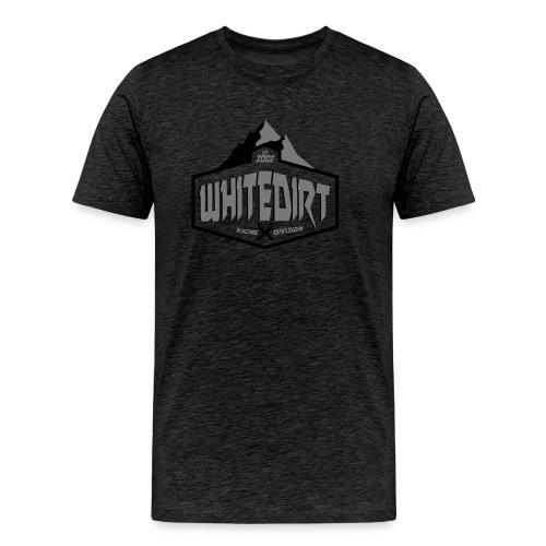 White Dirt Mountain Eco White / Orange - Men's Premium T-Shirt