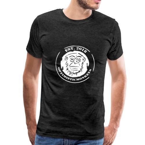 Caps Logo Opti Monki White Edition - Männer Premium T-Shirt