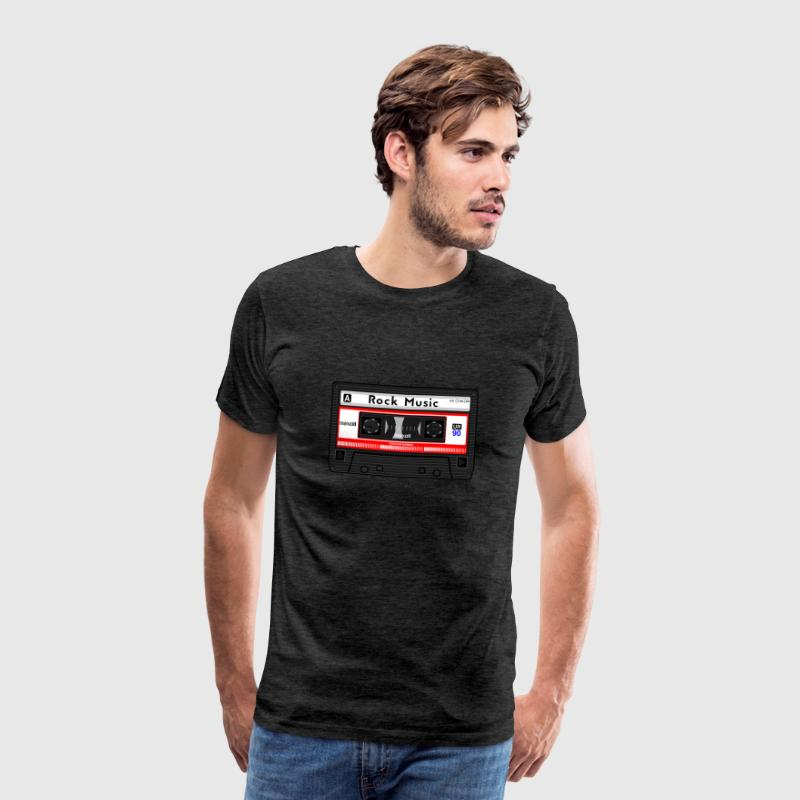 ROCK MUSIC CASSETTE - Men's Premium T-Shirt